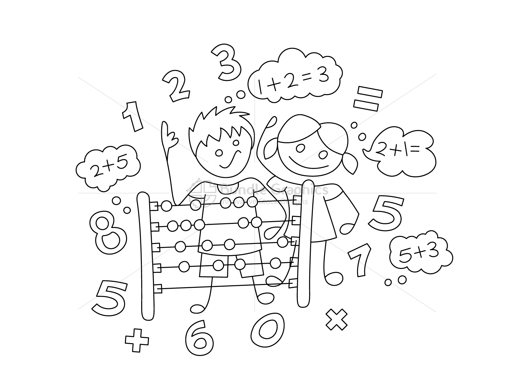 Primary Abacus Class Graphical Illustration example image 2