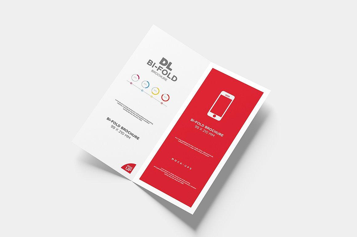 DL Bi-fold Brochure Mock-Up example image 7