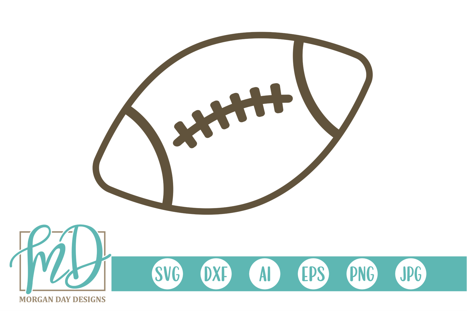 Football - Football Outline SVG, DXF, AI, EPS, PNG, JPEG example image 1