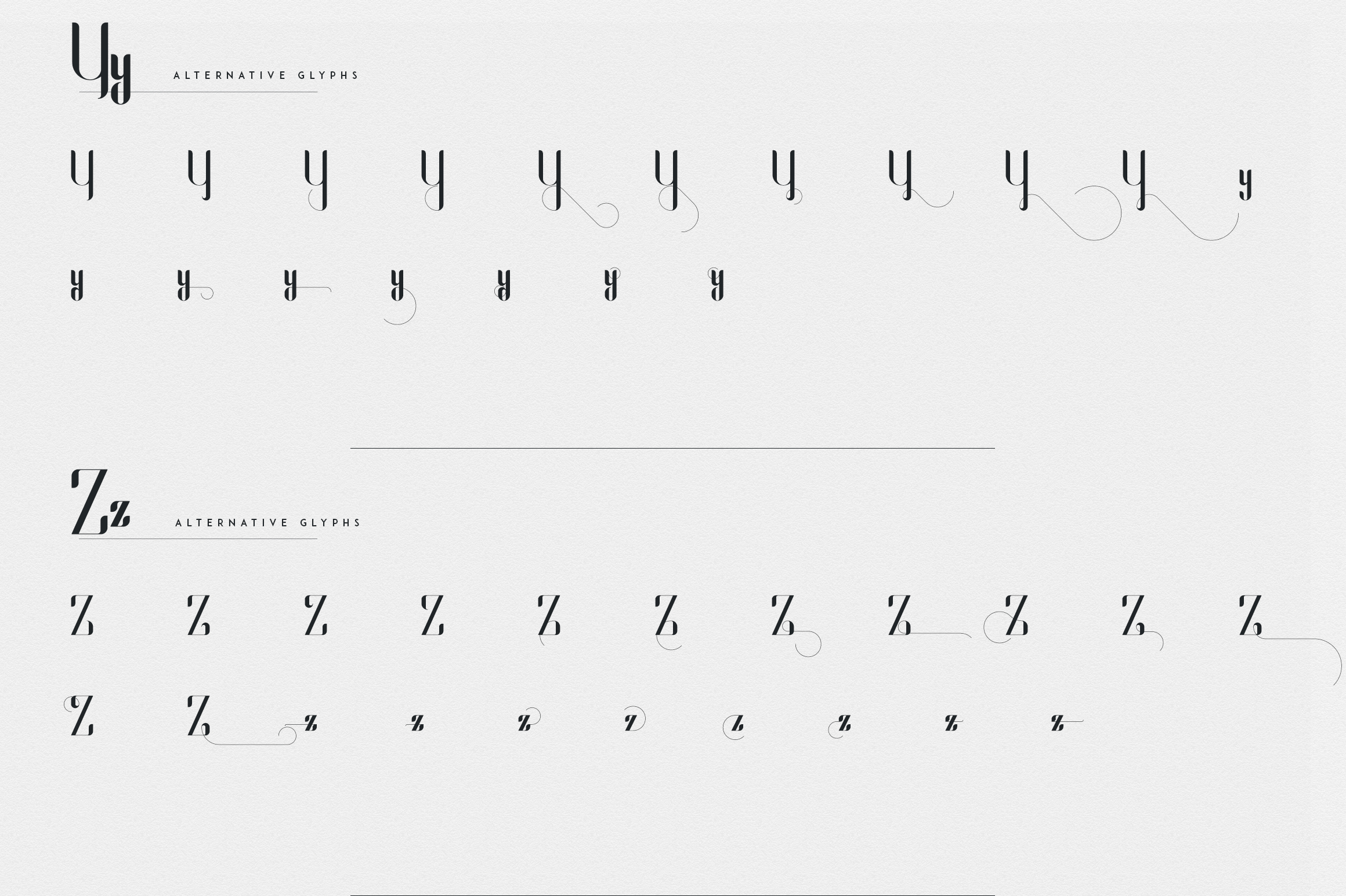 Fonatik Display font Extras example image 23