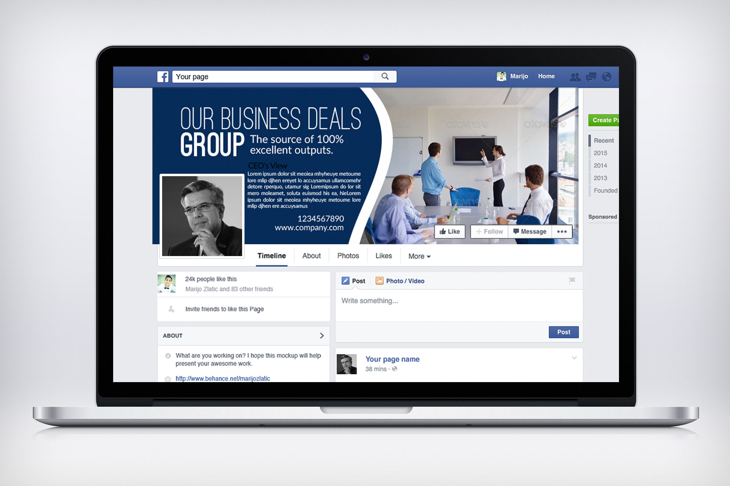Multi Use Business Facebook Timeline Cover example image 2
