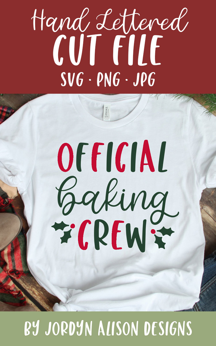 Official Baking Crew, Christmas Holiday SVG Cut File example image 2