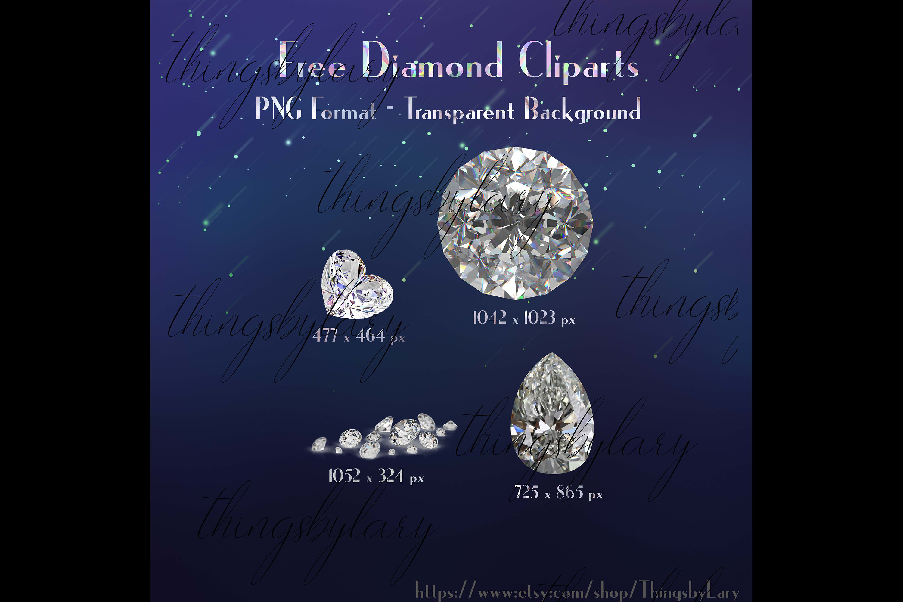 24 realistic diamond texture digital papers example image 10