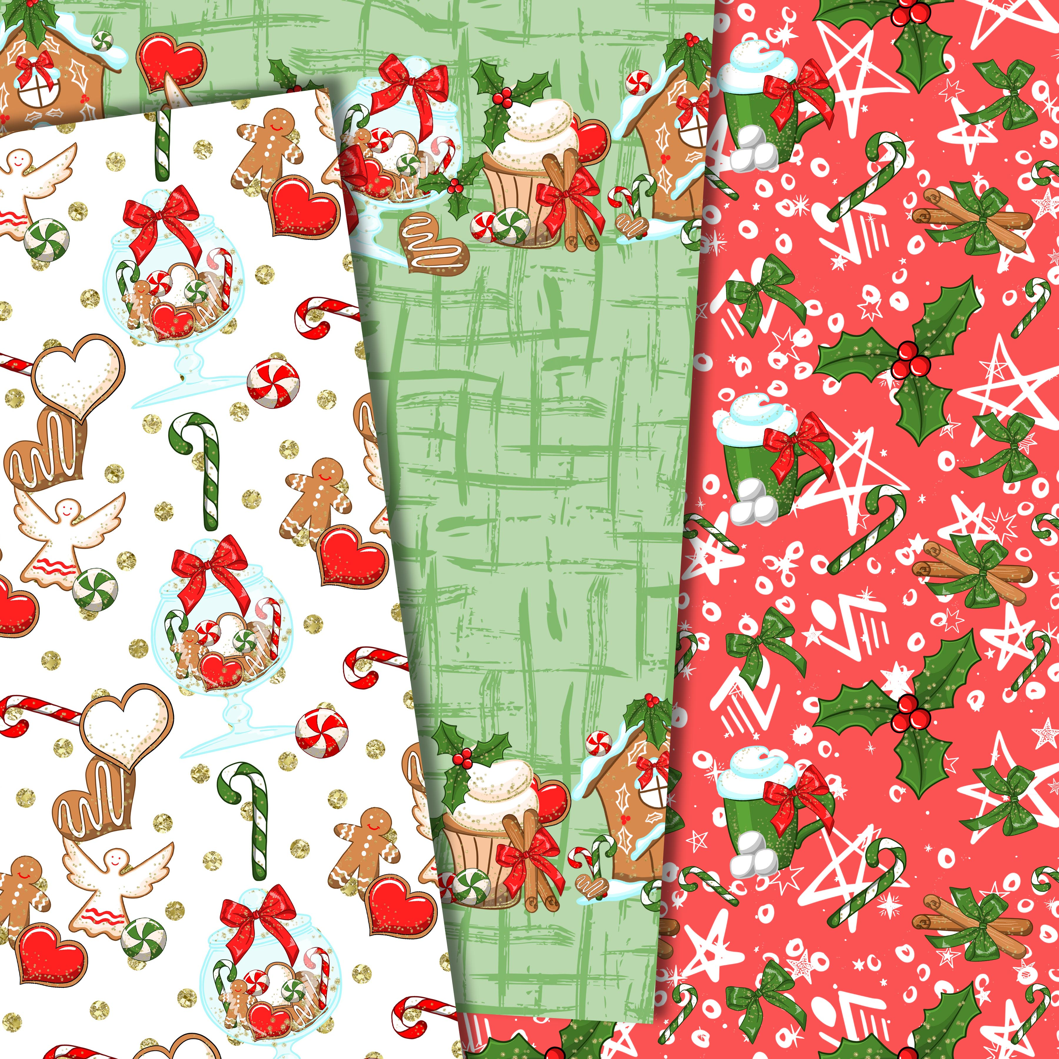 Christmas sweets patterns example image 5