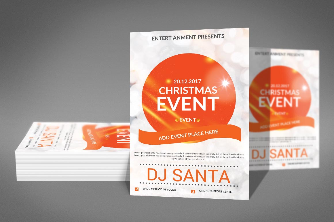 Christmas Event Poster Template example image 3