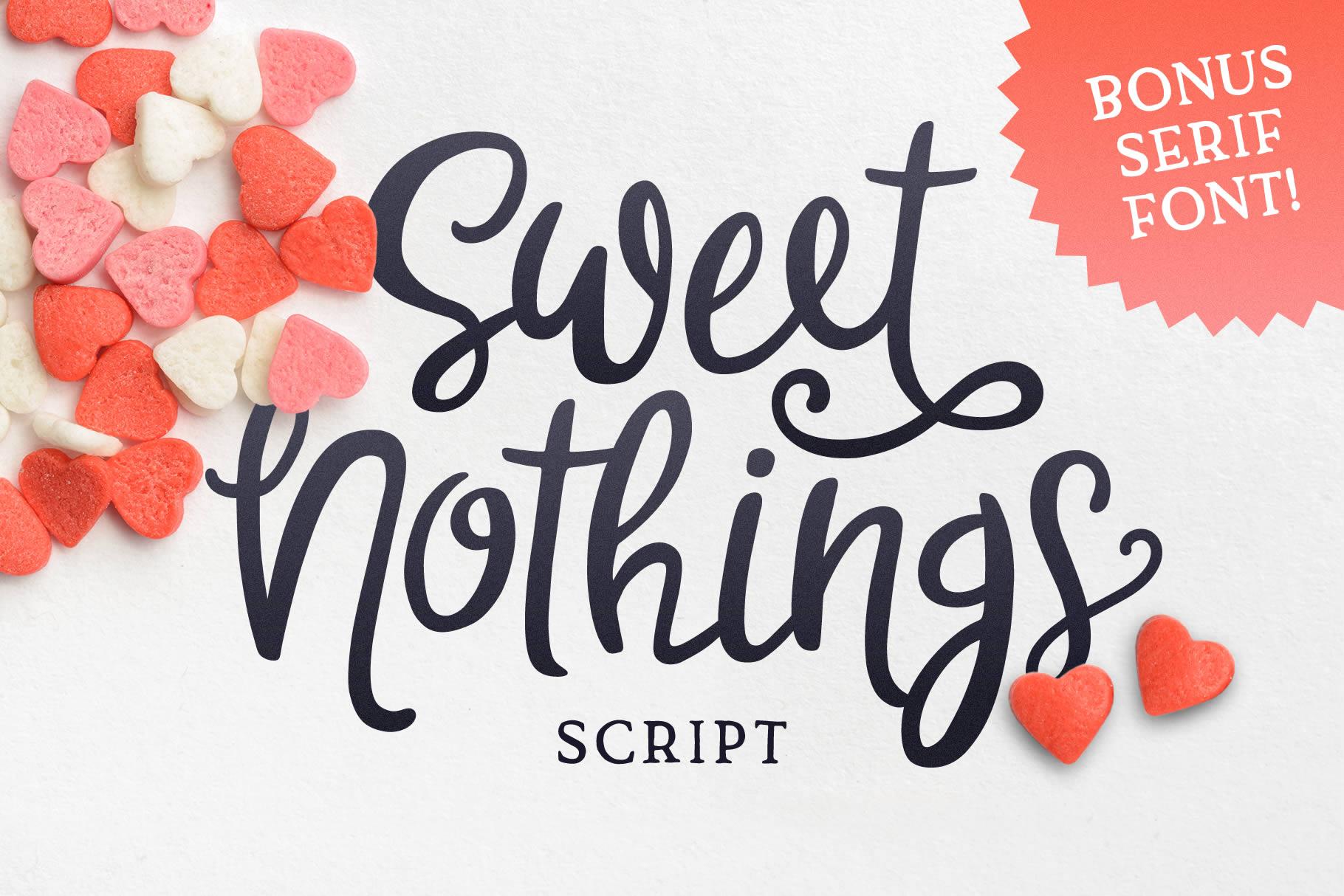 Sweet Nothings Script Bonus Font! example image 1