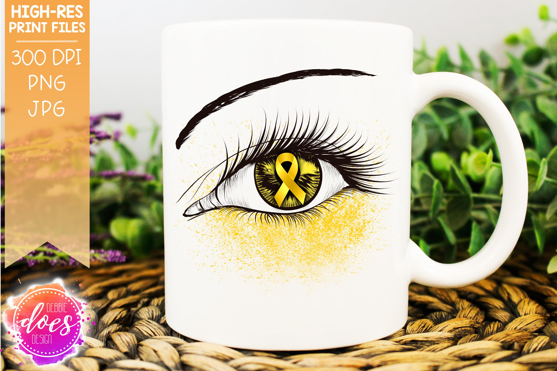 Yellow Awareness Ribbon Eye - Printable Design example image 1