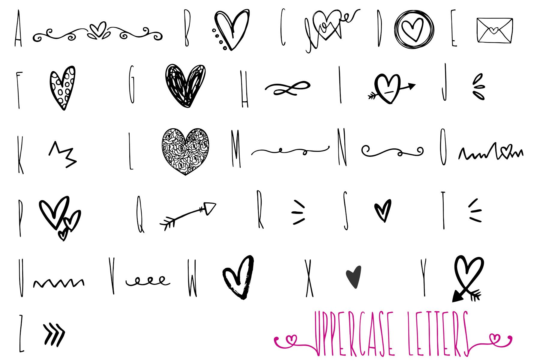 Valentine Symbols Font example image 6