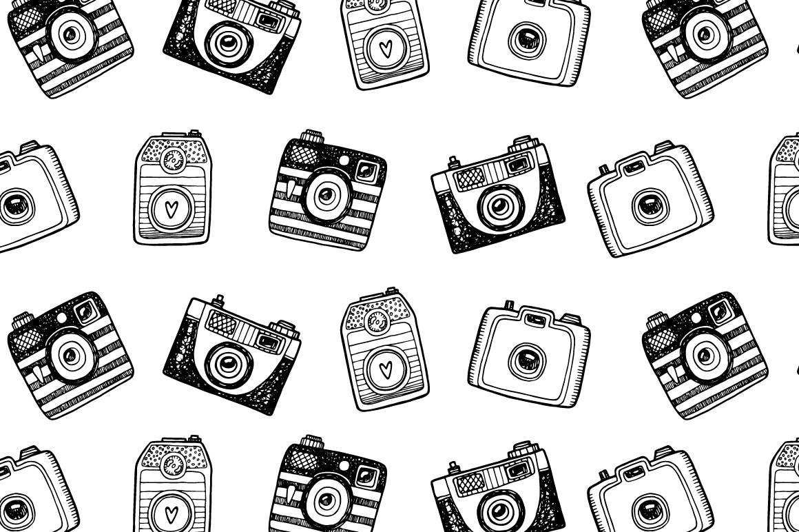 Hand drawn camera set +patterns example image 13