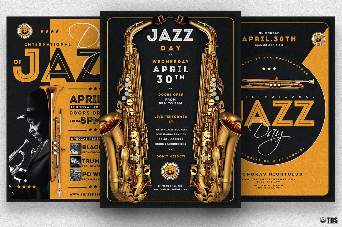 Jazz Day Flyer Bundle example image 1