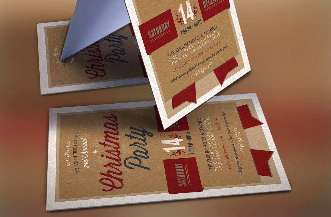 Christmas Party Invitation Template example image 3