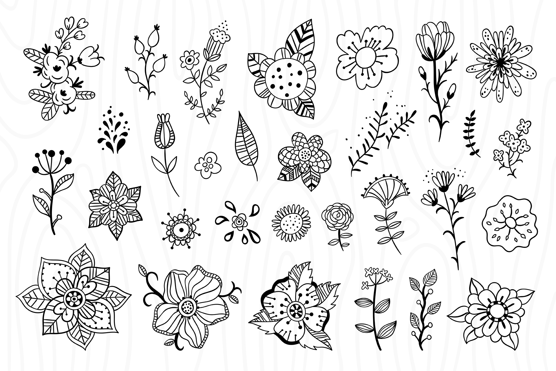 Outline Florals example image 2