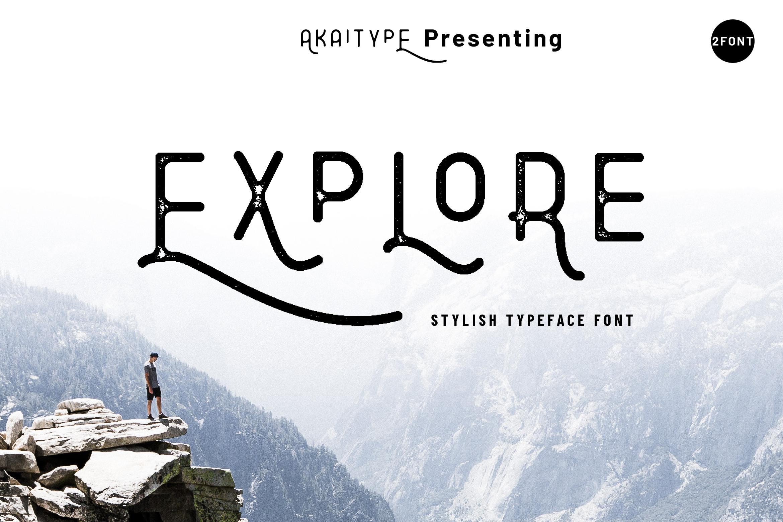 Explore - Stylish Typeface example image 1