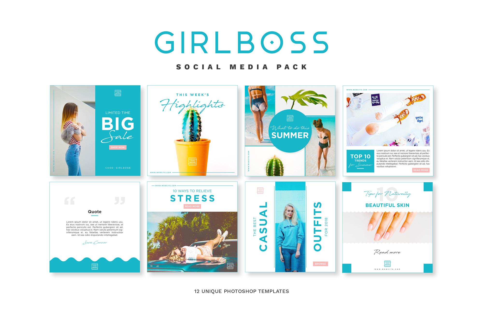 Girlboss Social Media Pack example image 1