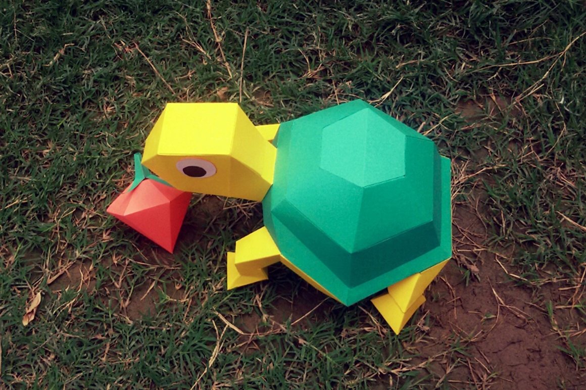 DIY Tortoise - 3d papercraft example image 2