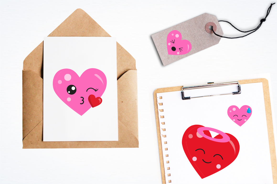Colorful Heart graphic and illustrations example image 4