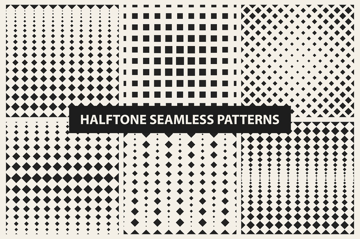 Halftone seamless patterns example image 7
