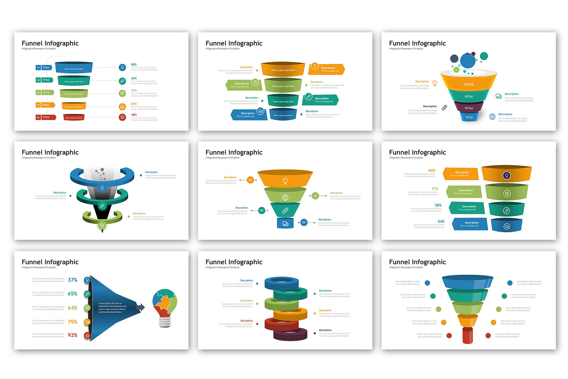 Funnel Presentation - Infographic Template example image 2