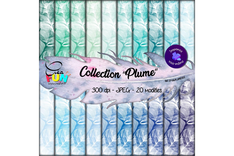 Lot de 20 papiers numériques - Collection