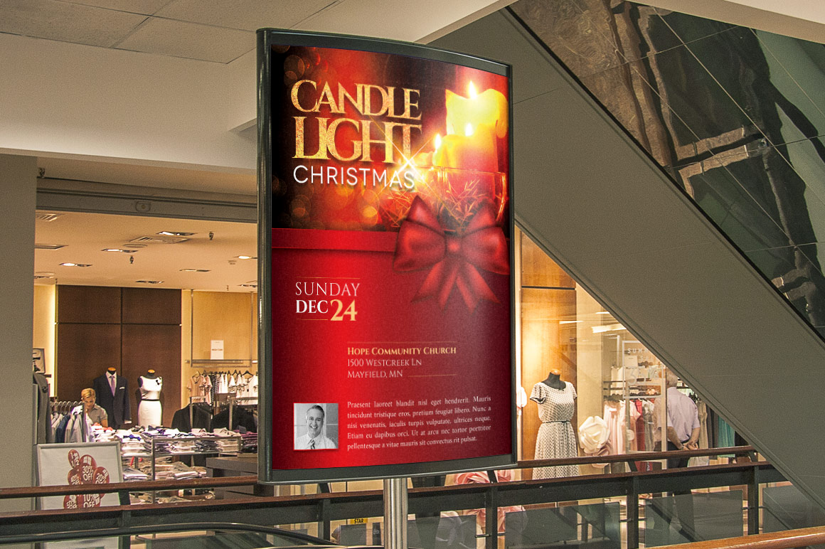 Christmas Candle Light Flyer Poster Template example image 6