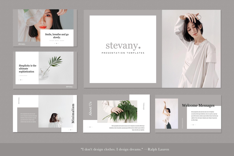 Stevany Lookbook Presentation Templates example image 2