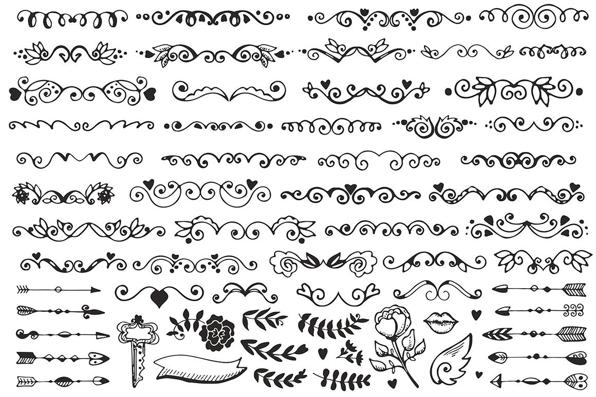 270 elements Vintage Decorations Set example image 4