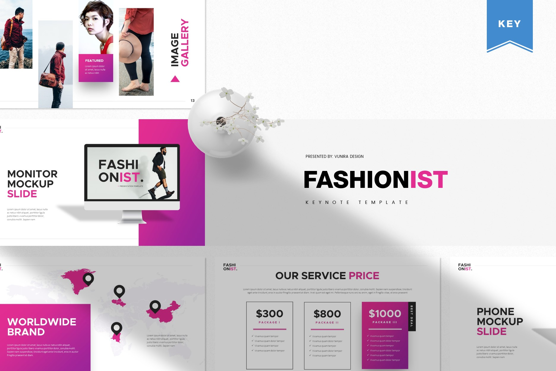 Fashionist   Powerpoint, Keynote, GoogleSlides Template example image 2
