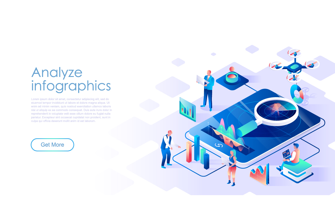 Bundle Isometric Landing Page Template Header example image 24