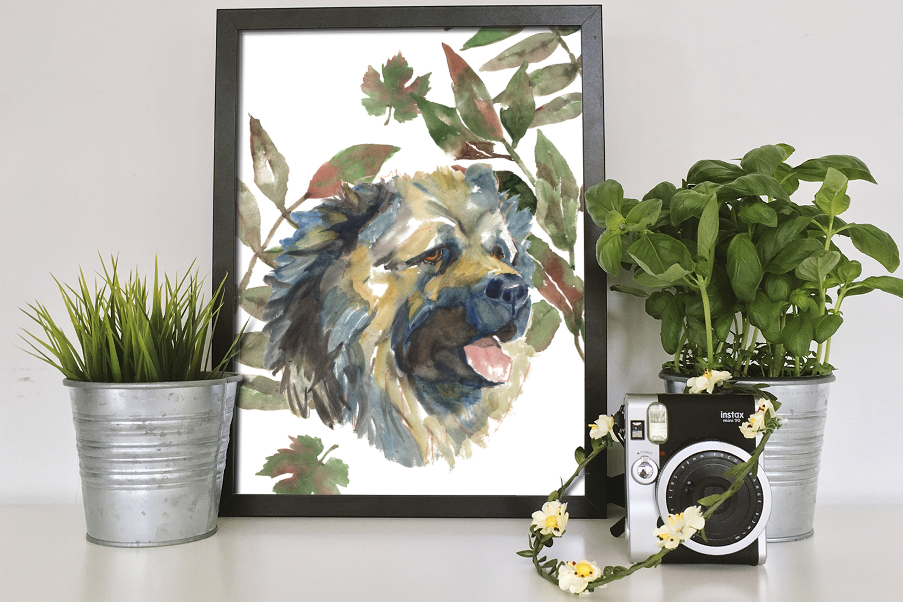 Shepherd dogs watercolor set example image 5