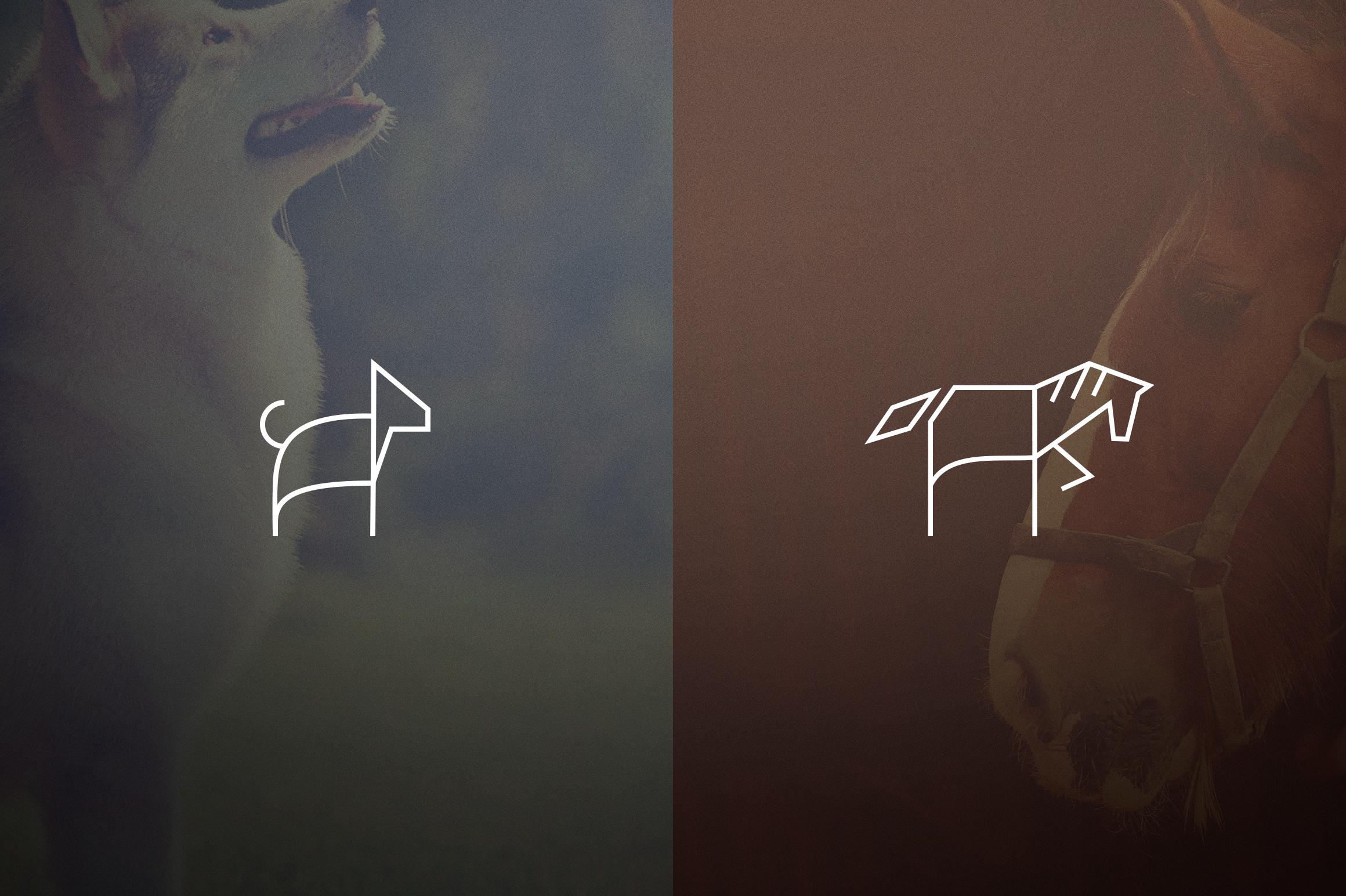 17 Geometric Animal Icons and Logos example image 7