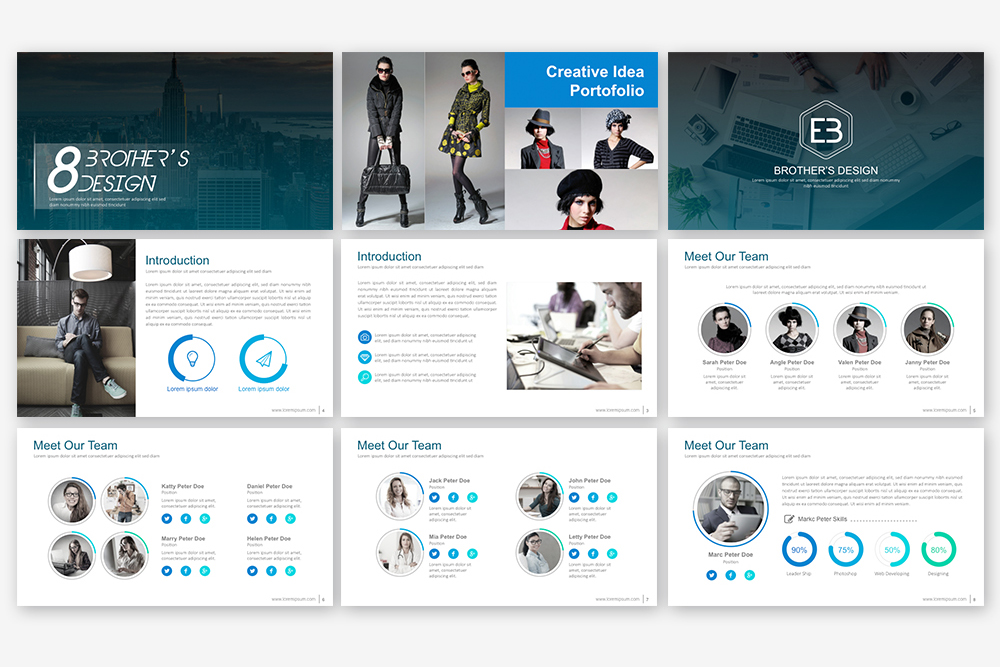 EB Powerpoint Template example image 4