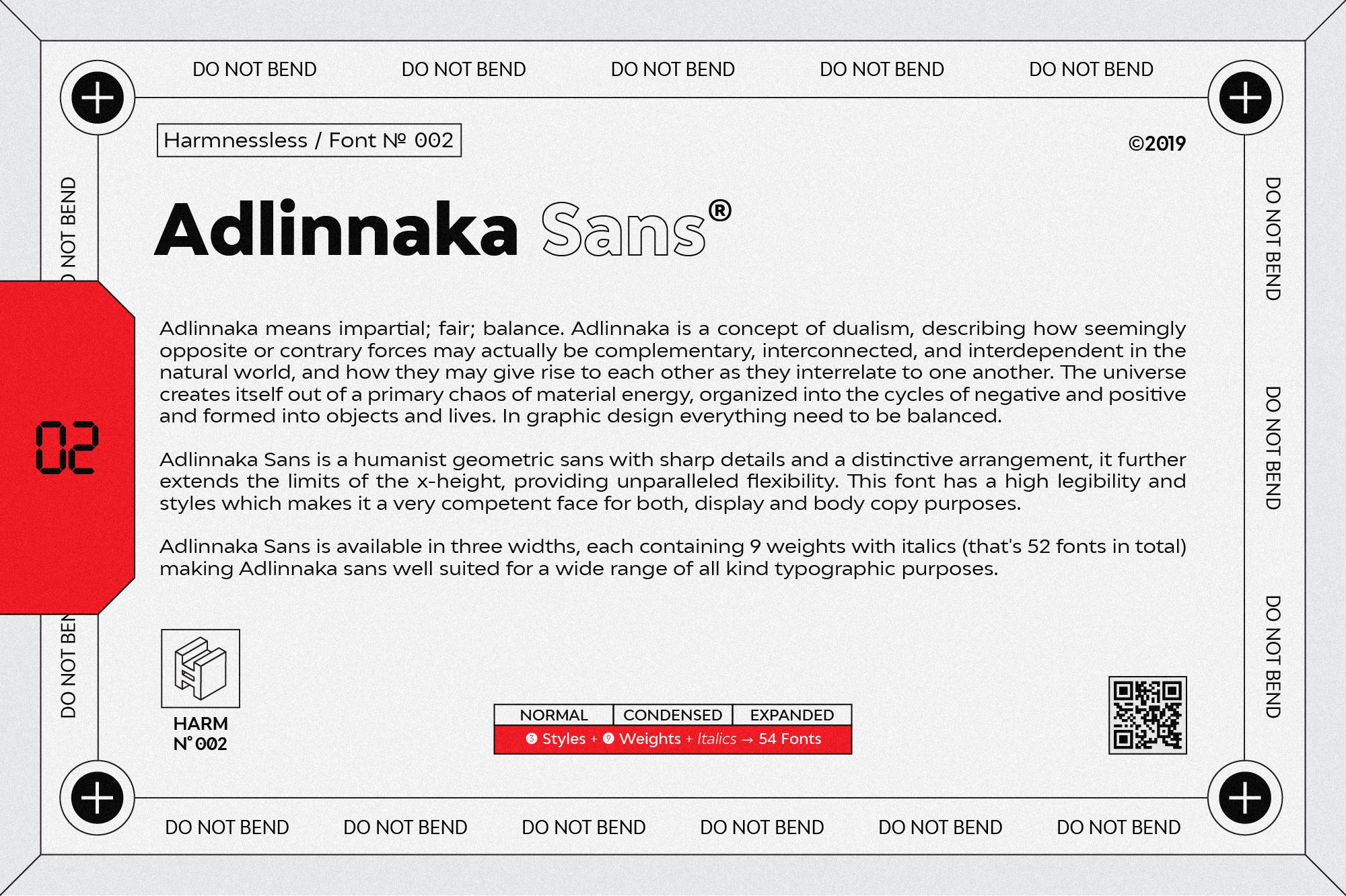 Adlinnaka Sans - Font Family example image 3