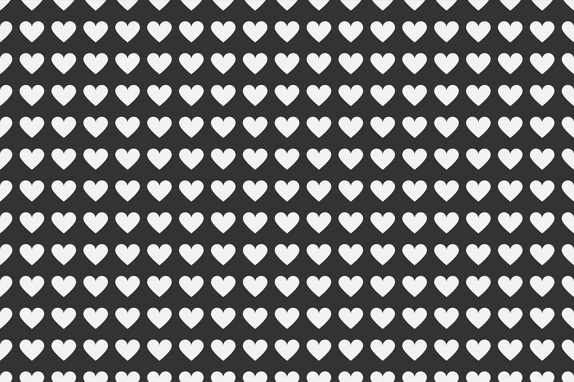 Set of seamless patterns with hearts example image 8