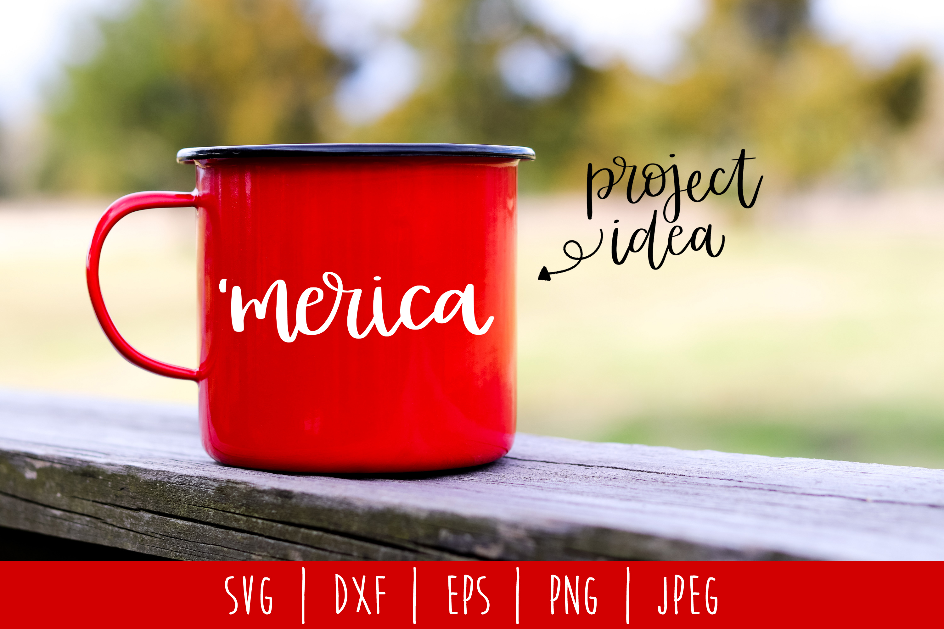 'Merica SVG, DXF, EPS, PNG JPEG example image 1