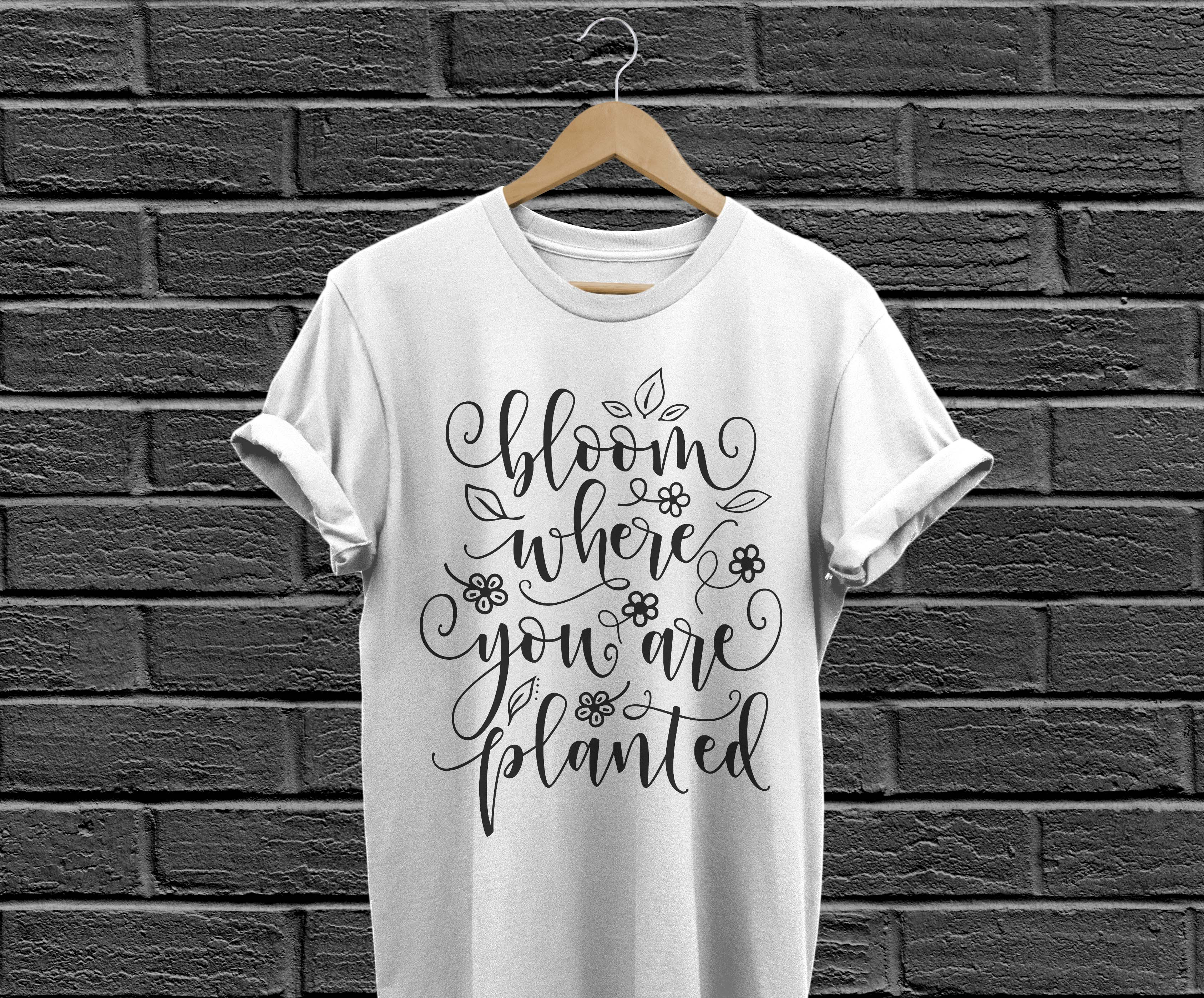 Bloom where you are planted SVG DXF PNG EPS example image 3