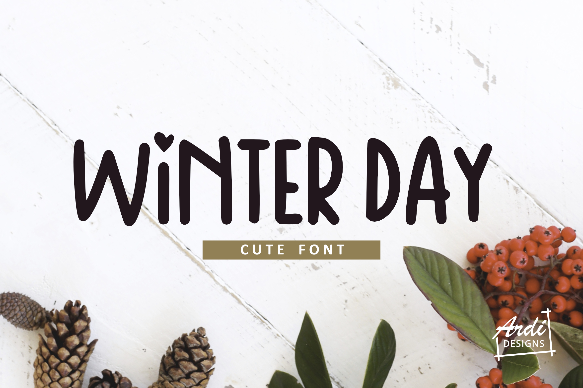 Winter Day Font example image 1