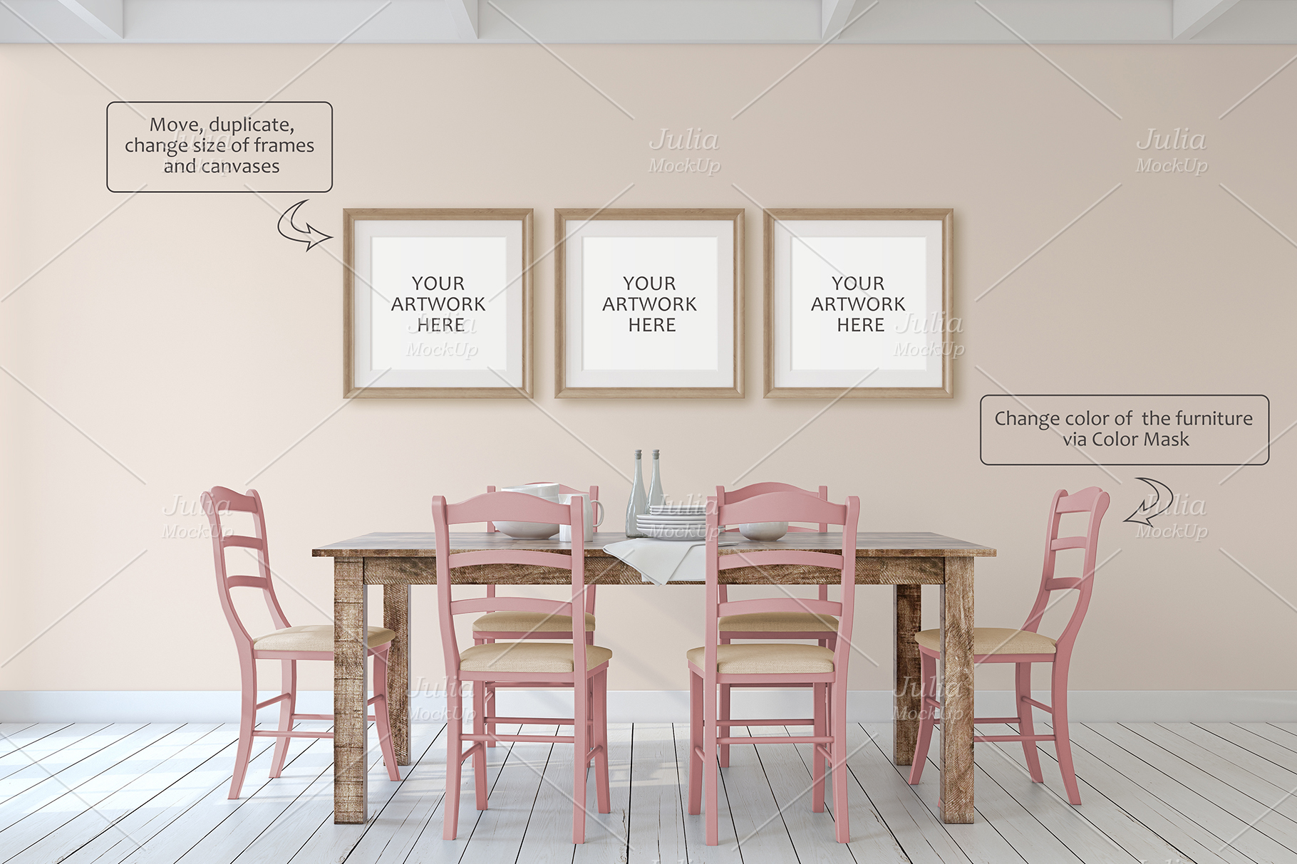 Farmhouse Style. Wall&Frames Mockup. example image 7