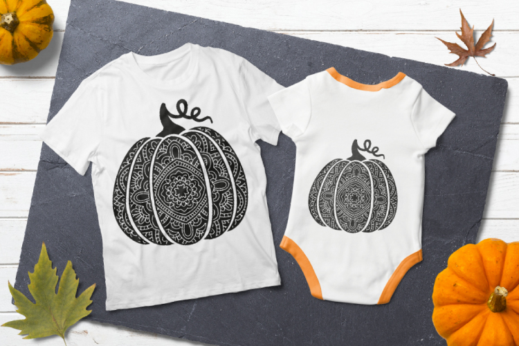 Bohemian pumpkin svg. Fancy pumpkin example image 3