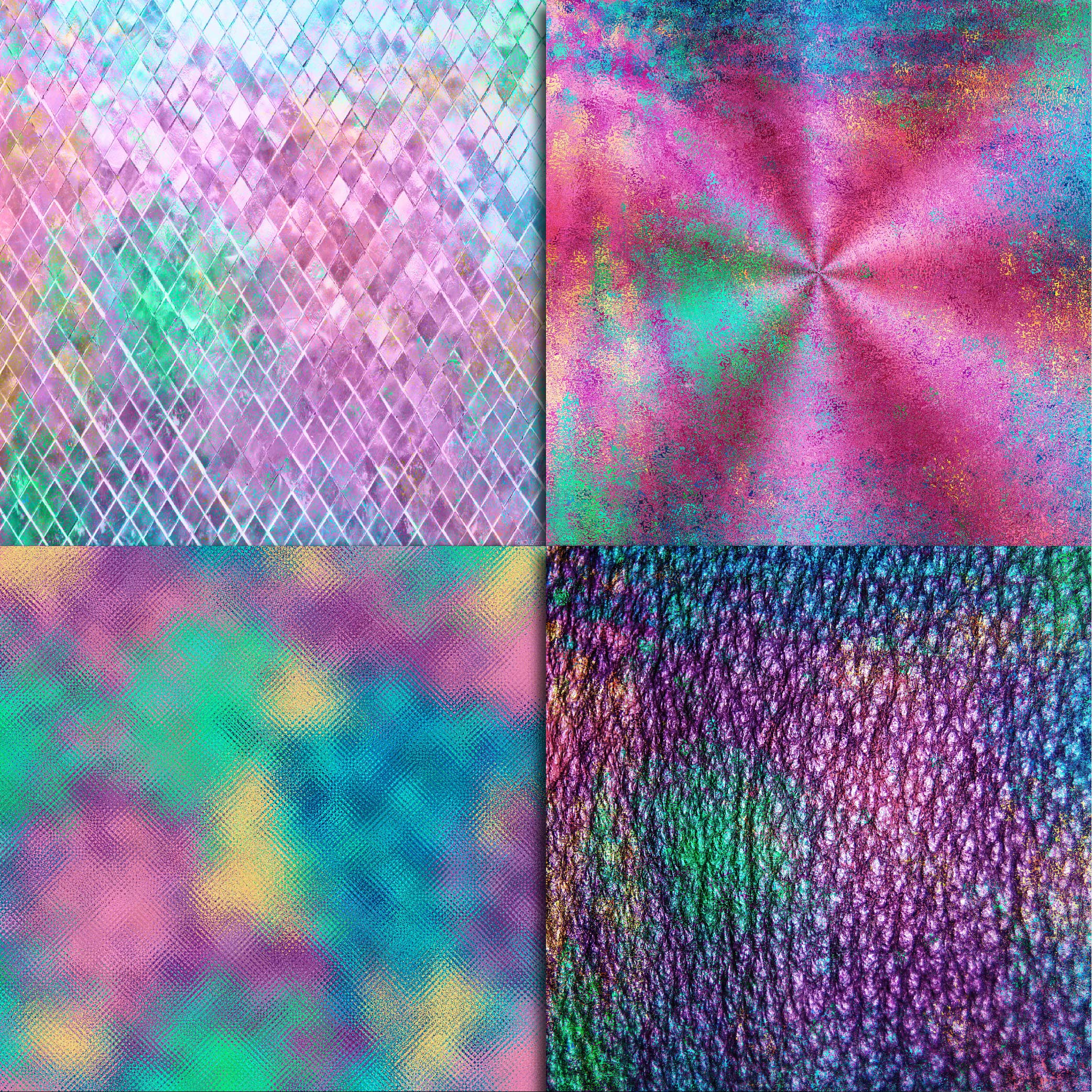 Mermaid Textures Digital Paper example image 4