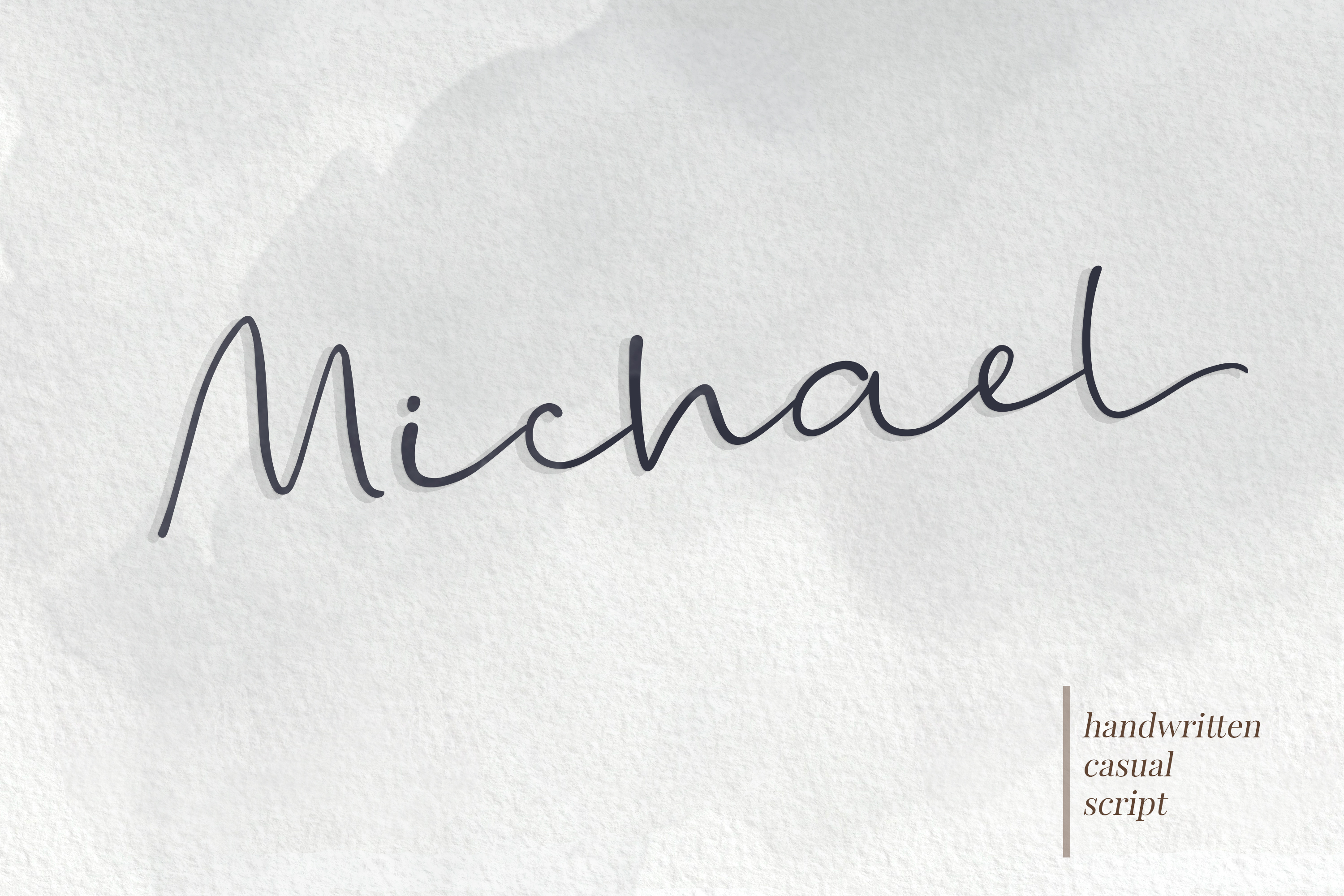 Michael - a casual handwritten script example image 1