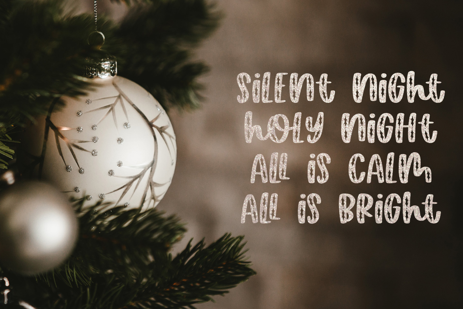 Happy Hollydays, A Christmas Mistletoe Font example image 8