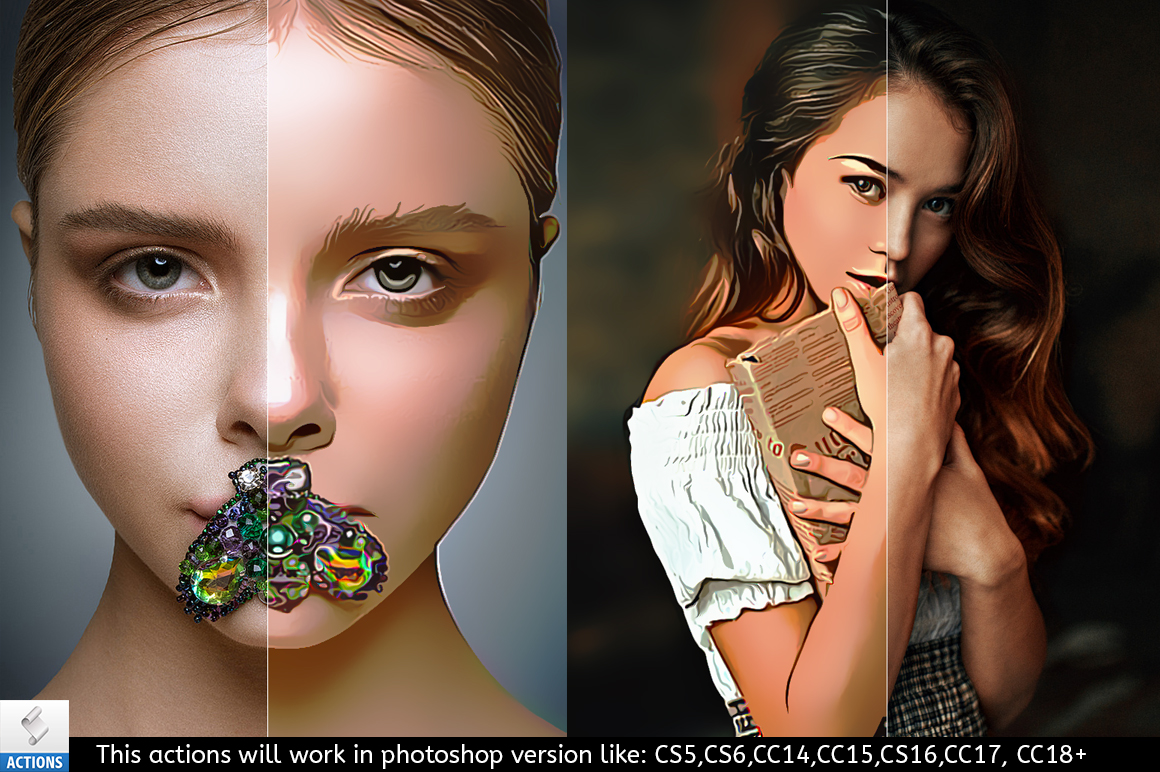 Portrait Painting Photoshop Actions example image 5