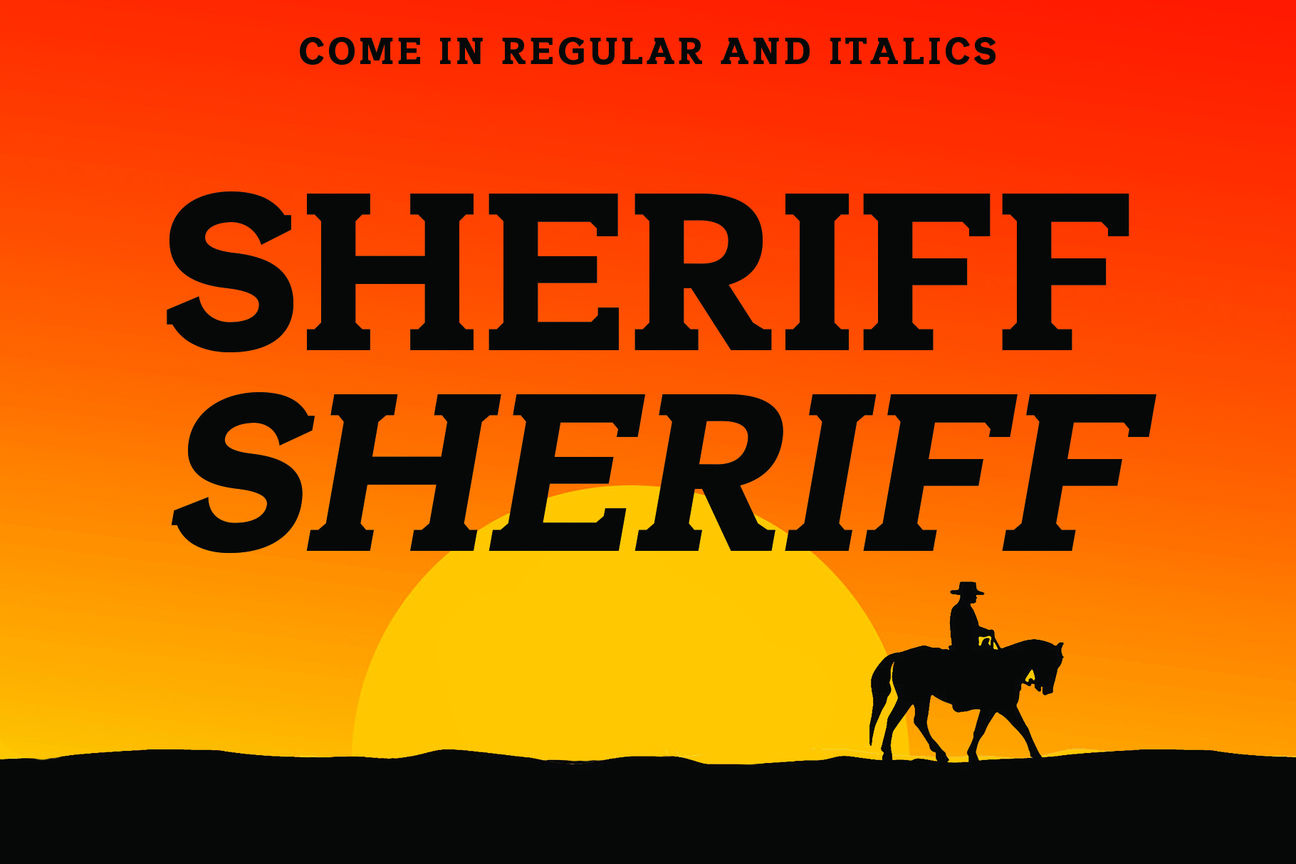SHERIFF A Font of the Wild West example image 3