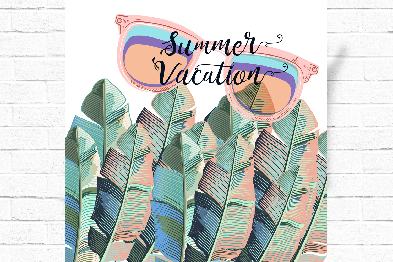 Fun and positive vector tropical backgrounds example image 3