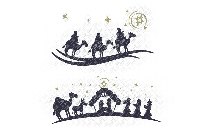 Nativity SVG Christmas Bundle in SVG, DXF, PNG, EPS, JPEG example image 6