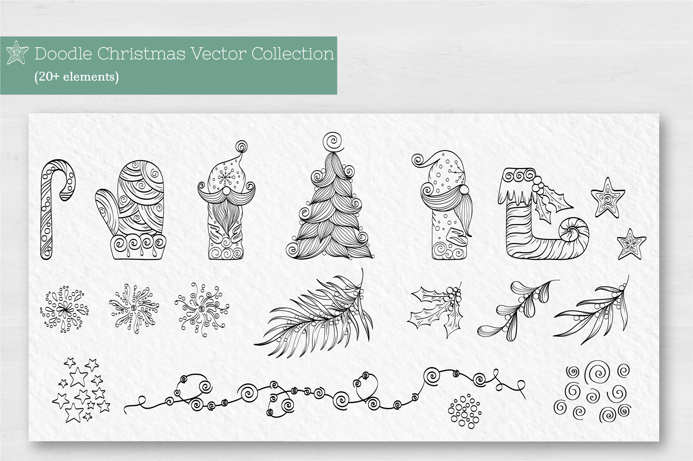 Doodle Christmas Vector Collection example image 2