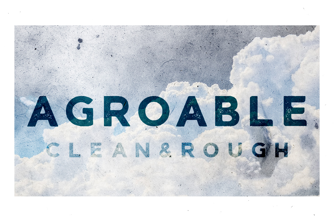 Agroable - Clean & Rough Font example image 1