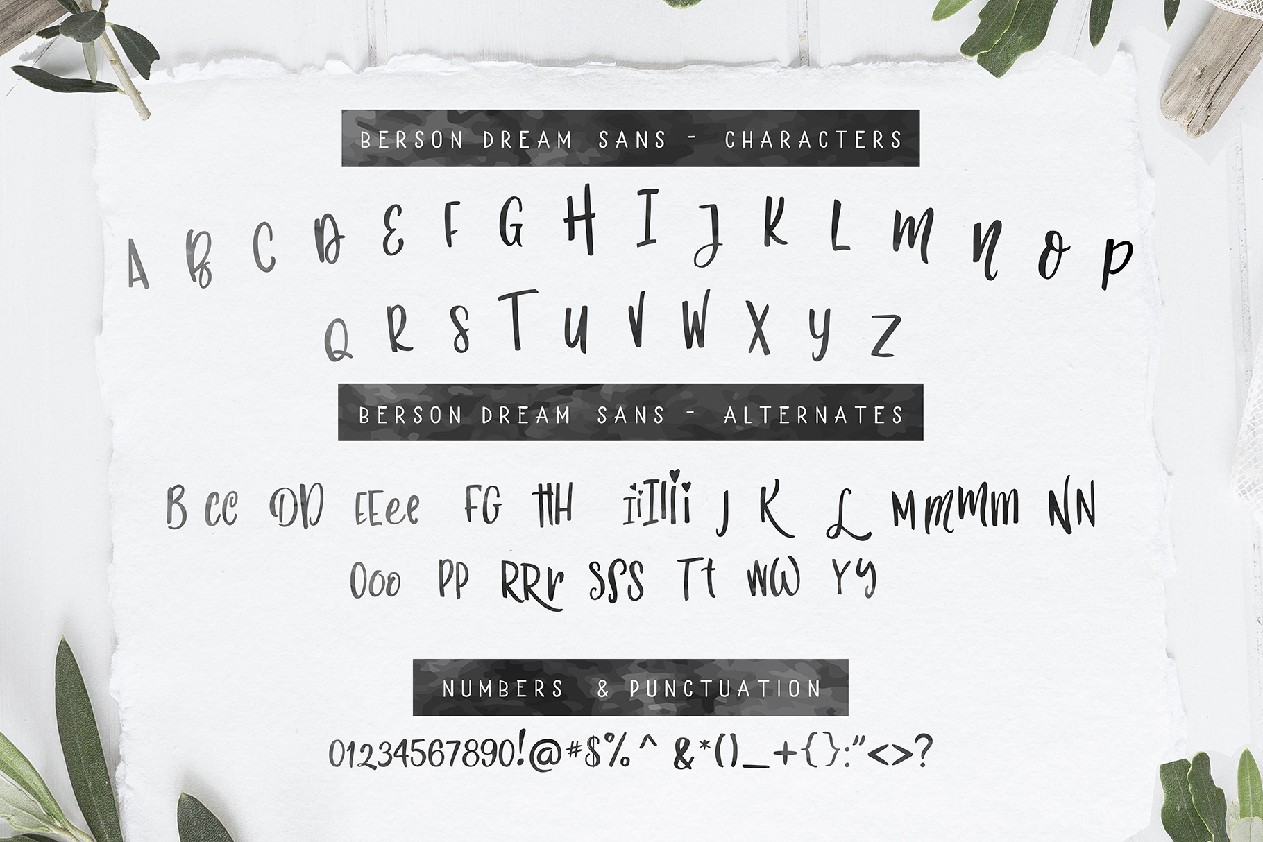 Berson Dream Font TRIO and extras example image 9
