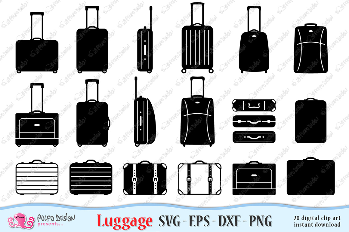 Luggage SVG example image 1