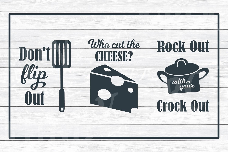Kitchen Art Design Bundle 1- SVG Cut Files for Crafter example image 3